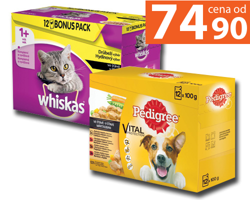 Pedigree, Whiskas 12x 100 g